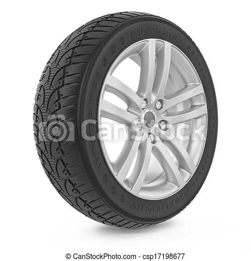 autó, tél, autógumi, wheel. - csp17198677