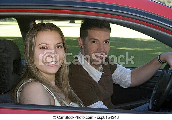autó, vezetés - csp0154348