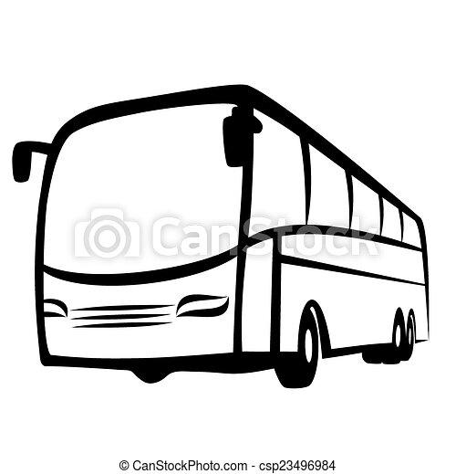 autóbusz, jelkép - csp23496984