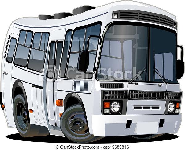 autóbusz, karikatúra - csp13683816
