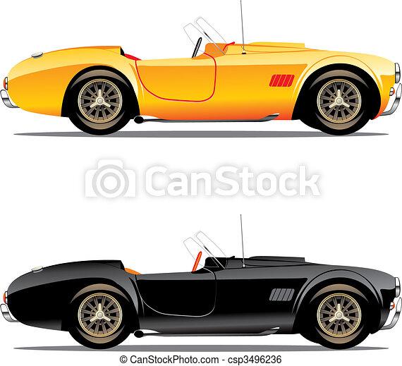 autók, átváltható, elszigetelt - csp3496236