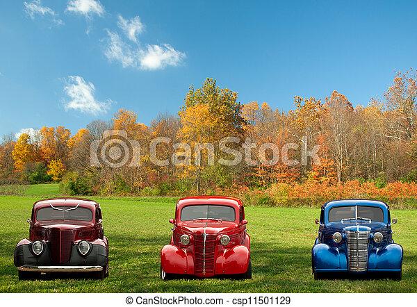 autók, színes, klasszikus - csp11501129