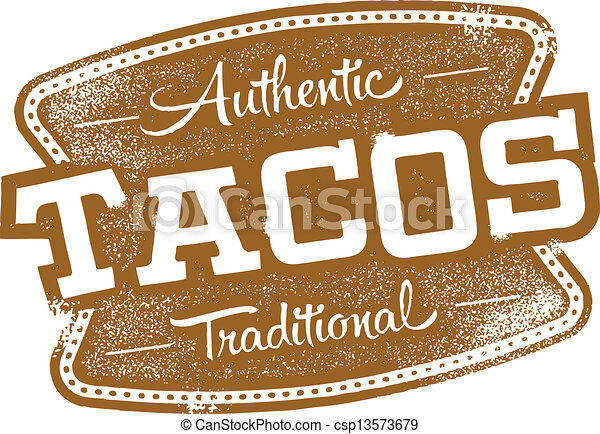 Authentic Mexican Tacos - csp13573679