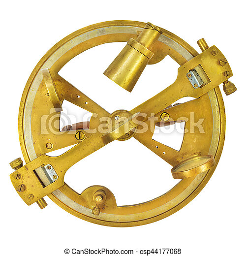 Authentic nautical astrolabe isolated on white. Authentic ...