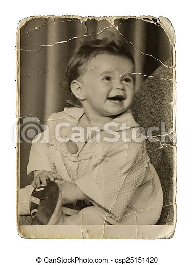 Authentic photo of a smiling girl - csp25151420