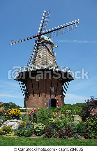 Authentic working windmill - csp15284835