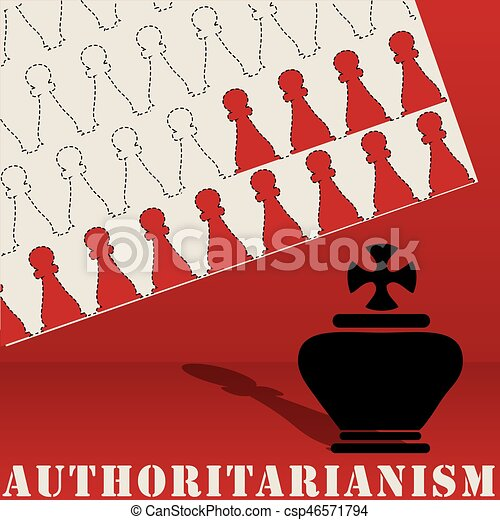 Authoritarianism poster abstract shapes - csp46571794
