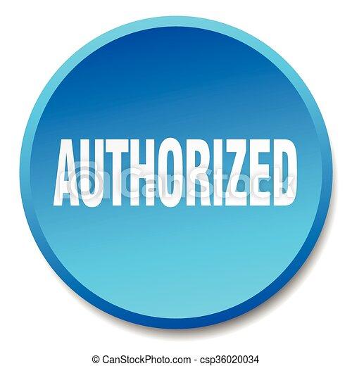 authorized blue round flat isolated push button - csp36020034