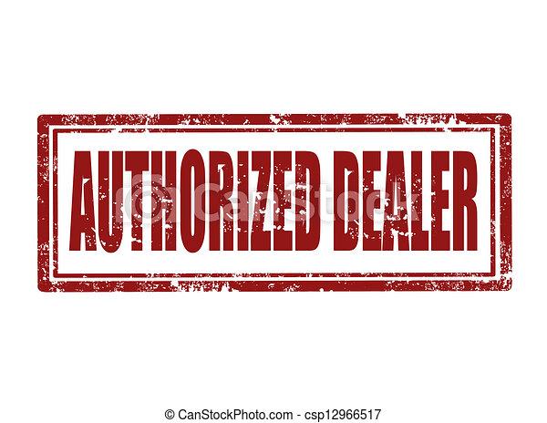 Authorized dealer stamp - csp12966517