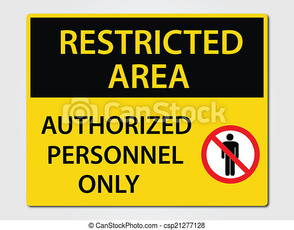 Authorized Personnel Sign - csp21277128