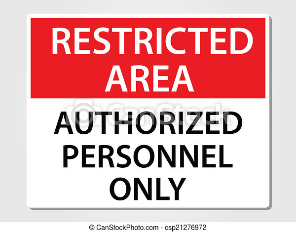 Authorized Personnel Sign - csp21276972