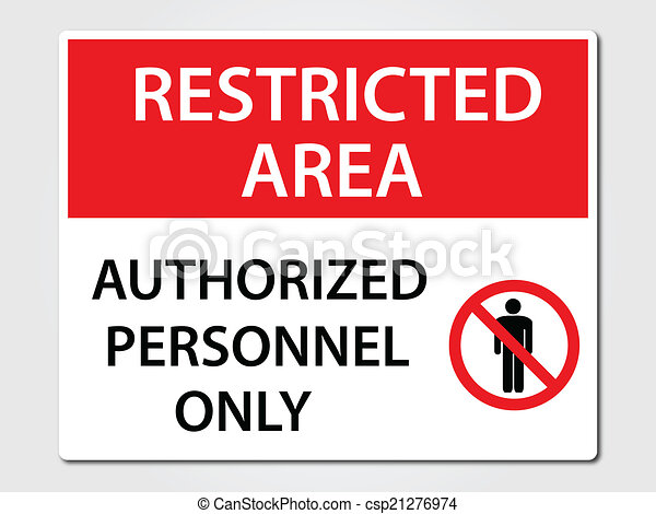 Authorized Personnel Sign - csp21276974