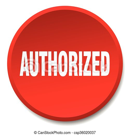 authorized red round flat isolated push button - csp36020037