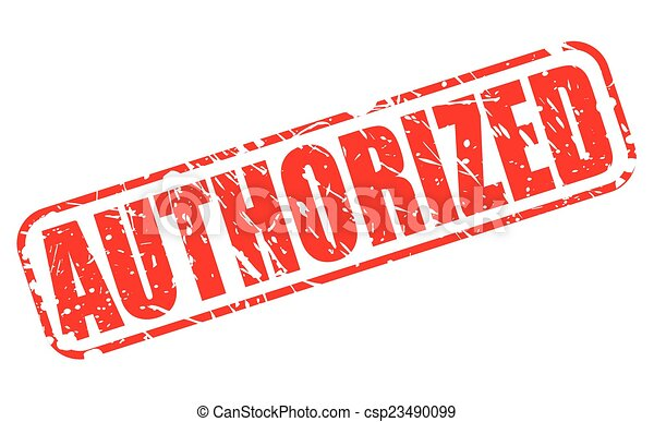 Authorized red stamp text - csp23490099