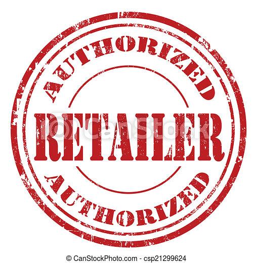 Authorized Retailer-stamp - csp21299624