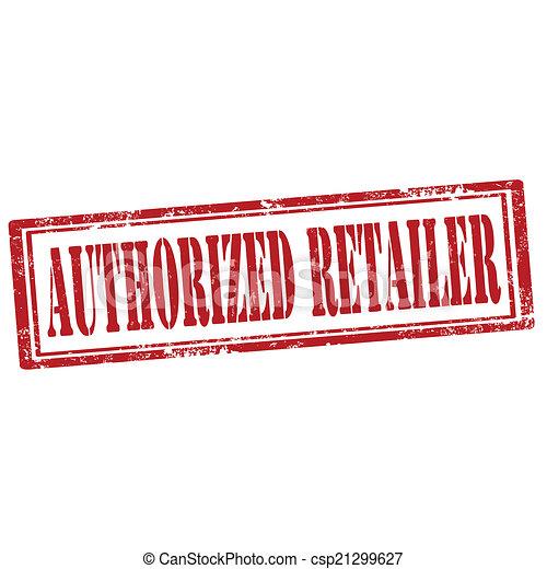 Authorized Retailer-stamp - csp21299627