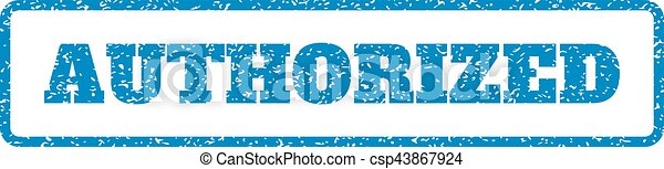 Authorized Rubber Stamp - csp43867924
