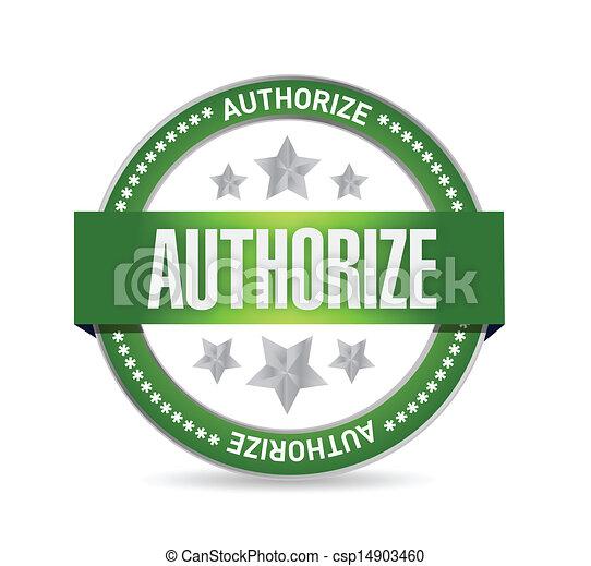 authorized seal stamp illustration design - csp14903460