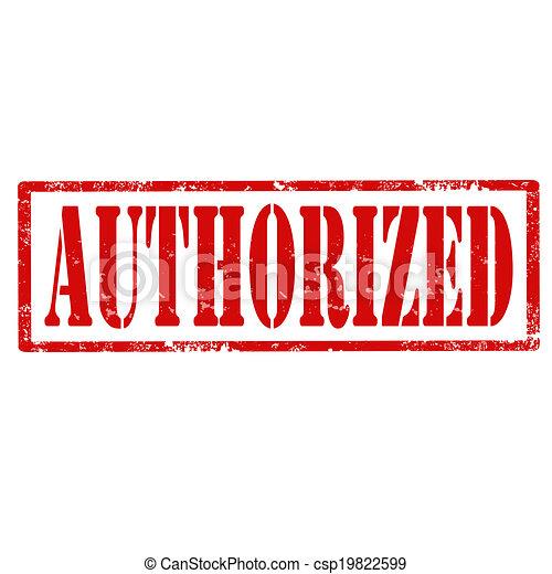 Authorized-stamp - csp19822599