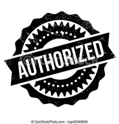 Authorized stamp - csp42349849