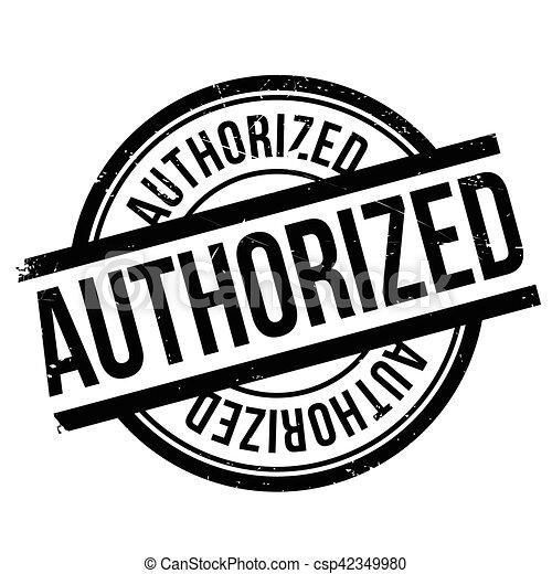 Authorized stamp - csp42349980