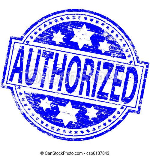 Authorized Stamp - csp6137843