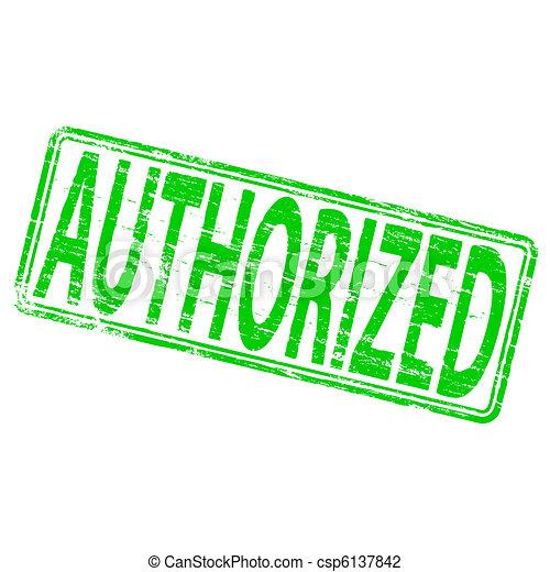 Authorized Stamp - csp6137842
