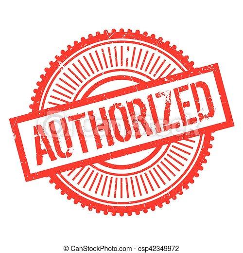 Authorized stamp - csp42349972