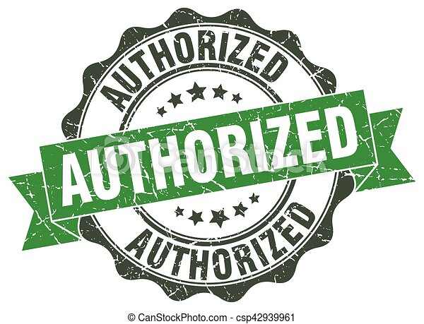 authorized stamp. sign. seal - csp42939961