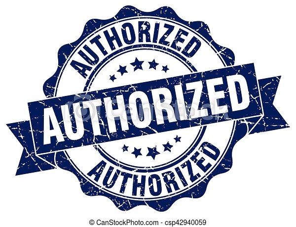 authorized stamp. sign. seal - csp42940059
