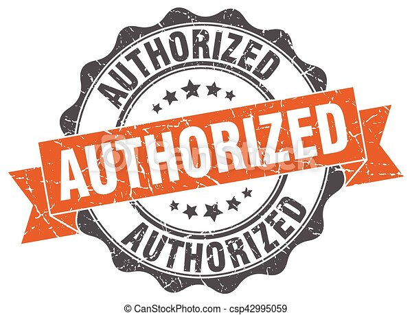authorized stamp. sign. seal - csp42995059