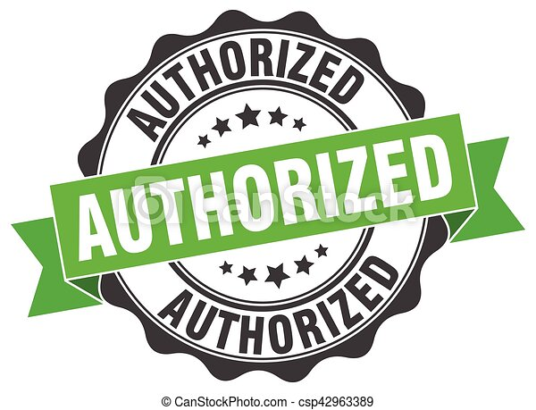 authorized stamp. sign. seal - csp42963389
