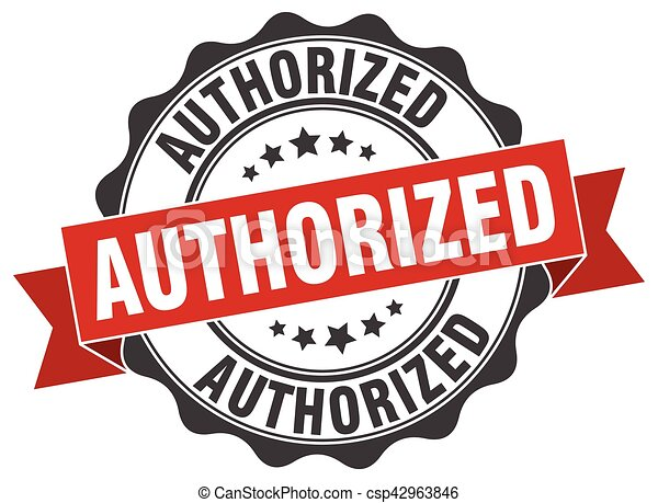 authorized stamp. sign. seal - csp42963846