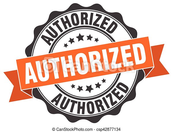 authorized stamp. sign. seal - csp42877134
