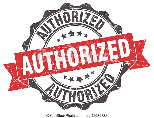 authorized stamp. sign. seal - csp42939832