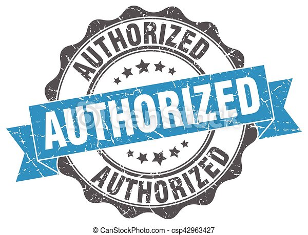 authorized stamp. sign. seal - csp42963427