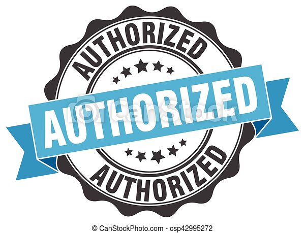 authorized stamp. sign. seal - csp42995272