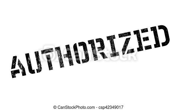 Authorized stamp - csp42349017