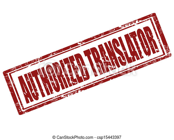 Authorized Translator-stamp - csp15443397