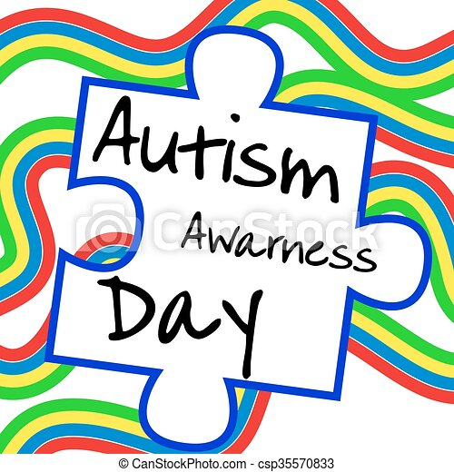 autism awareness day card or poster template vector vectors rh canstockphoto com  free autism awareness clipart
