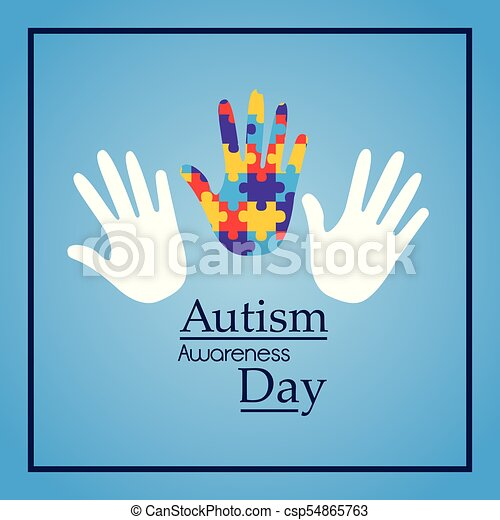 autism awareness day hands support event medical - csp54865763