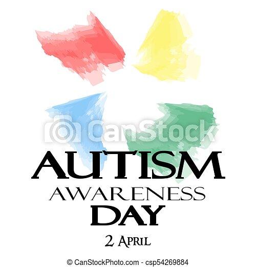 Autism Awareness Month. Watercolor symbol of autism. - csp54269884