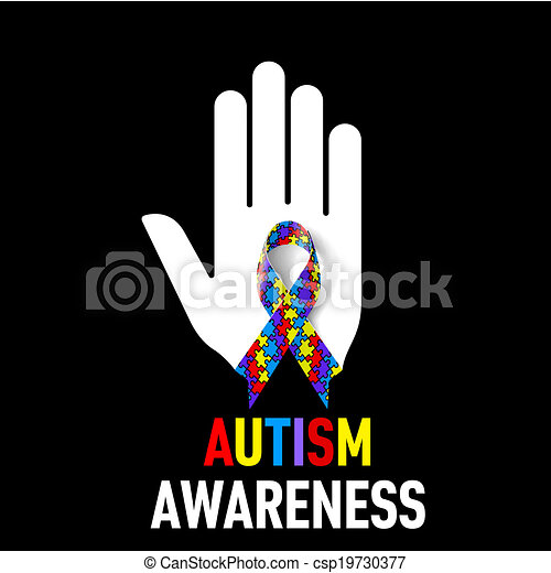 Autism Awareness sign - csp19730377