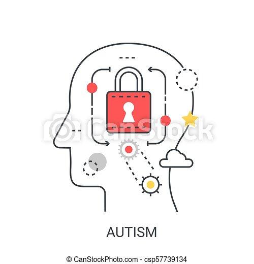 Autism vector illustration concept. - csp57739134