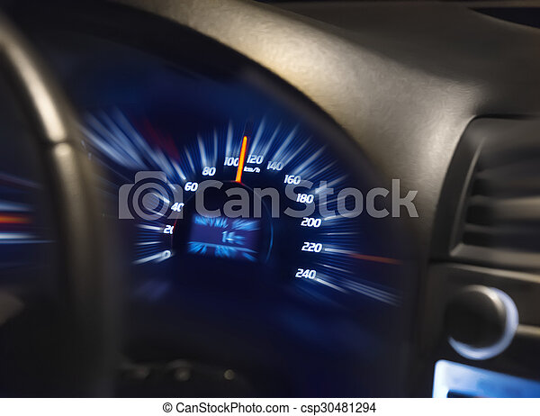 Geschwindigkeitsmesser auf dem Armaturenbrett - csp30481294