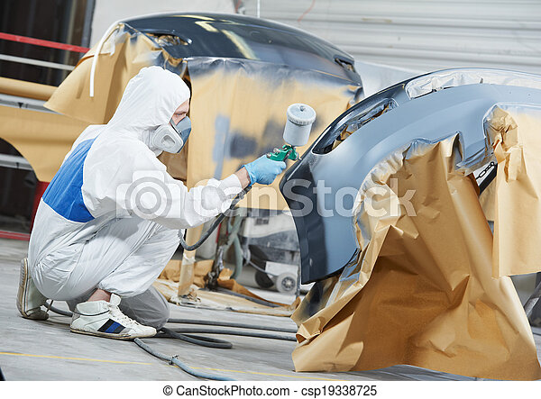 auto, auto, schilderij, werktuigkundige, bumper - csp19338725