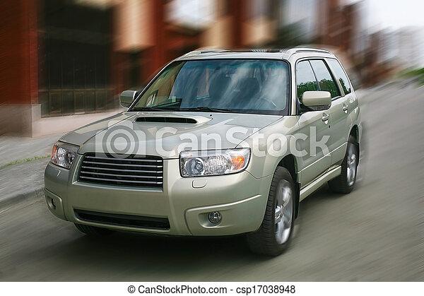 auto, bewegt, stadt - csp17038948
