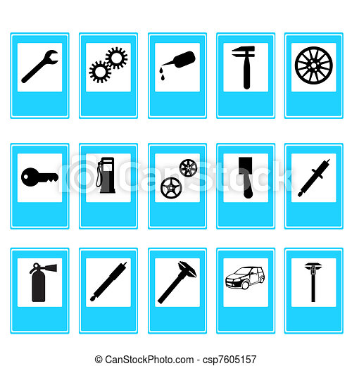 Auto Car Repair Service Icon Symbol - csp7605157