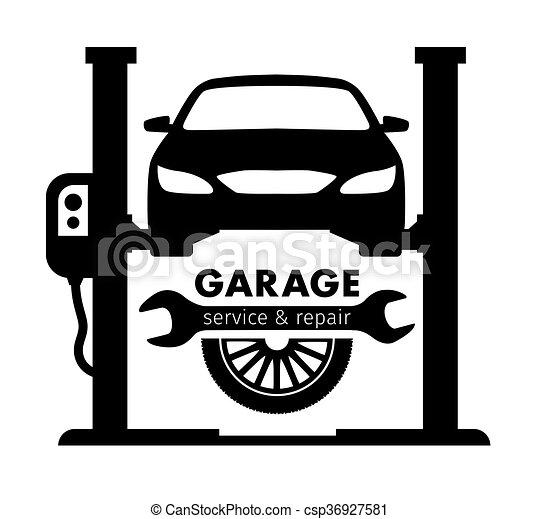 Auto center, garage service and repair logo,Vector Template. - csp36927581