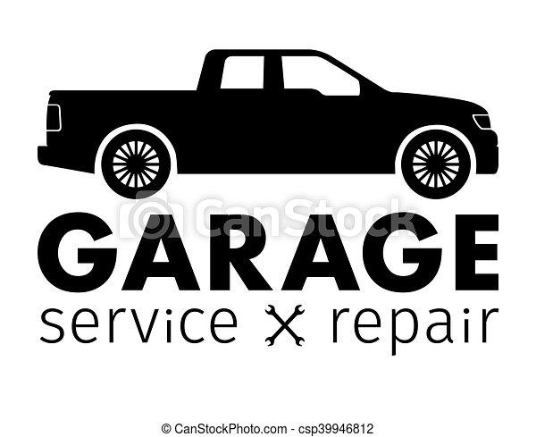 Auto center, garage service and repair logo,Vector Template - csp39946812